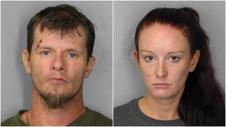 Kevin Worrell and Christine Brown are accused in a string of robberies last weekend. (photo courtesy Del. State Police)