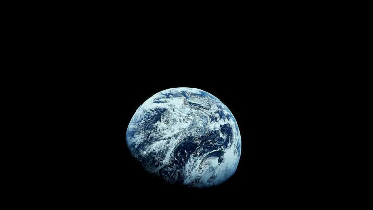 The Apollo 8 mission in 1968 took the first pictures of the Earth from deep space by humans. (AP Photo/NASA)