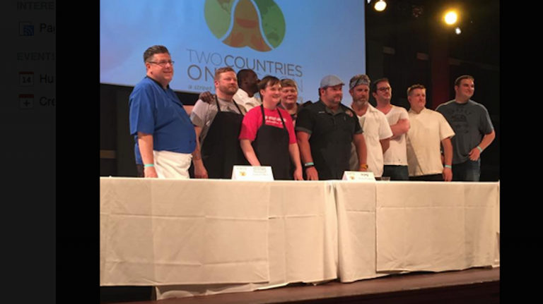 Philadelphia chefs participate in a showdown at the EATS festival. (Courtesy of Food Trust and EATS Philly)