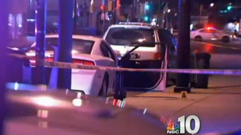 The scene of Brandon Tate-Brown's death (Electronic image via NBC10)