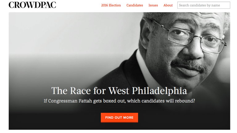 Crowdpac is a nonpartisan, for-profit, data-driven, Kickstarter-like political website, funding candidates in uncontested races, both locally and  throughout the country. (Electronic image via crowdpac.com)