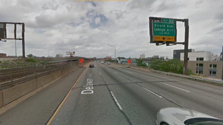I-95 at Girard Avenue in Philadelphia (Image via Google Earth Streetview)