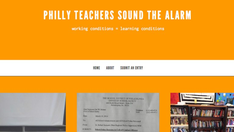 A new website by Philadelphia School District teachers  (Electronic image via phillyteachers.org)