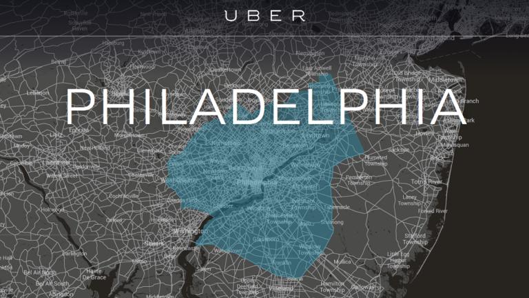 Uber's service area in the Philadelphia area. (Electronic Image via Uber.com)