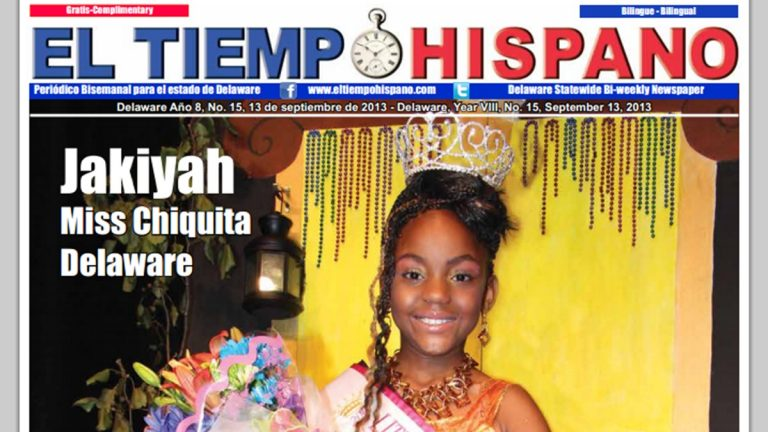 The original pageant winner was featured on the cover of El Tiempo Hispano earlier this month.