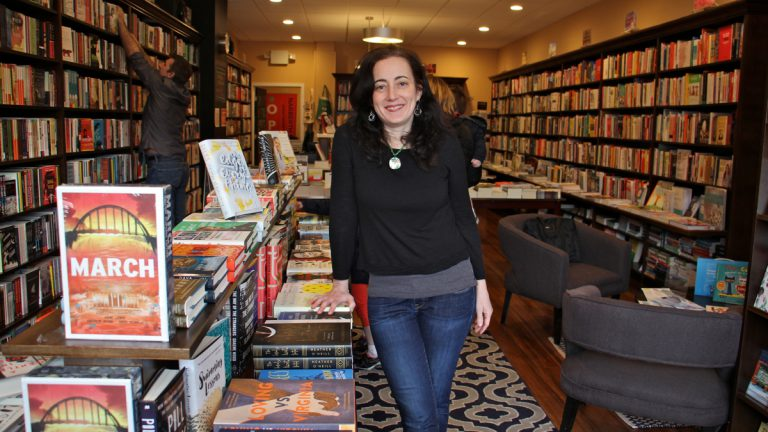 Ellen Trachtenberg is the owner of Narberth Bookshop. (Emma Lee/WHYY)