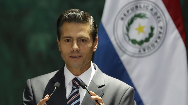 Mexican President Enrique Pena Nieto is shown in Mexico City on Friday