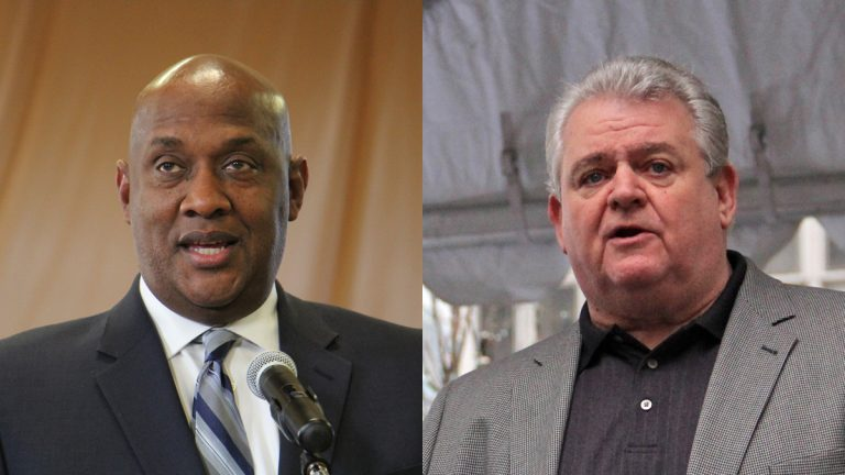U.S. Reps. Dwight Evans (left) and Bob Brady will boycott Donald Trump's inauguration