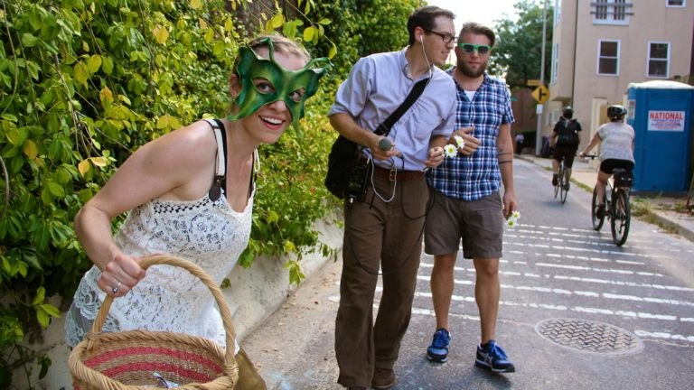 Experiment 39 is the Institute for Psychogeographic Adventure's unusual walking tour of Old City. (Emma Lee/WHYY)