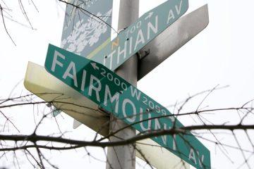 The corner of Fairmount and Corinthian marks the southwestern corner of Philadelphia's Francisville neighborhood.