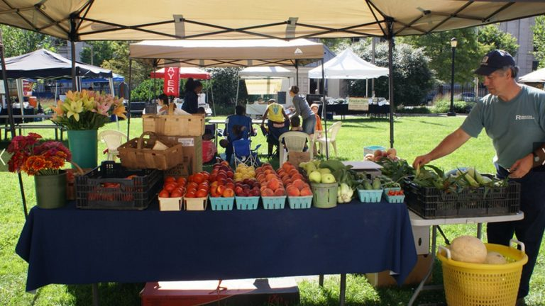 Farmers' Market in Wilmington (photo courtesy DE Dept. of Ag.)