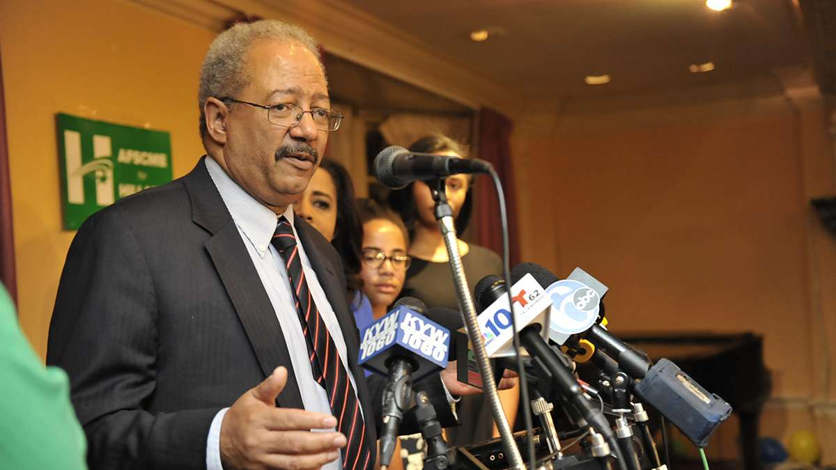 Indicted U.S. Rep. Chakah Fattah couldn't hold on to enough support in the suburbs or the city of Philadelphia. (Jonathan Wilson for NewsWorks)