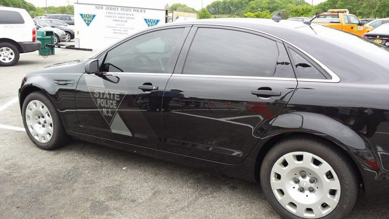 THe New Jersey State police Ghost Car (Image via the New Jersey State Police Facebook page)