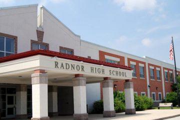 The exterior of Radnor High School