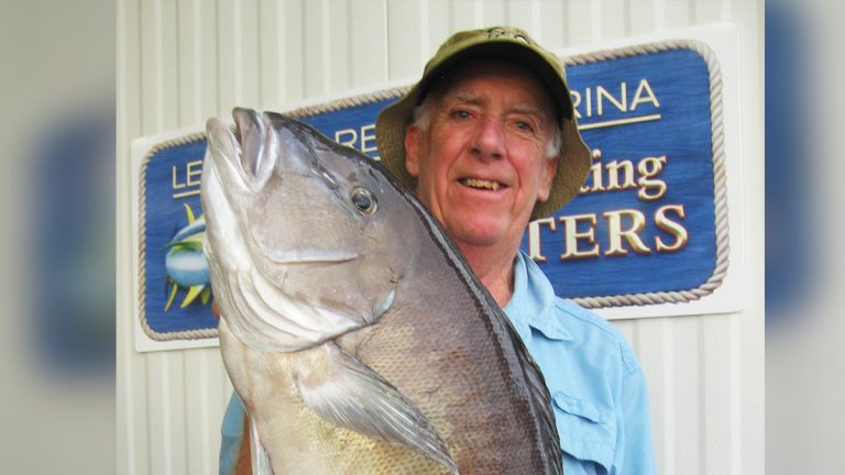 William Fintel of Lewes who caught a 33-inch-long blueline tilefish