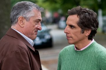 In this photo provided by Universal Studios, Robert De Niro, left, plays Jack Byrnes and Ben Stiller plays Greg Focker in the film,