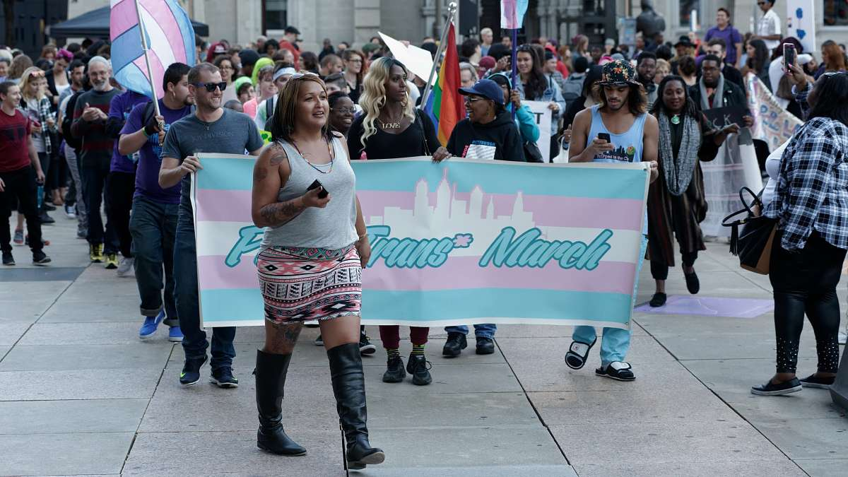 Philadelphia trans activist Naiymah Sanchez leads the 5th Annual Philly Trans