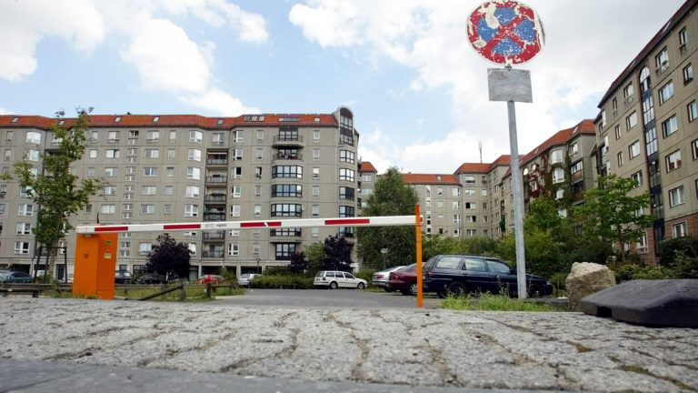 There is nothing at this parking lot and housing area in Berlin, shown in 2004, to remind a visitor that this is the site of Adolf Hitler's bunker. After WWII, East Germany built up a housing area on the site. (AP Photo/Fritz Reiss)