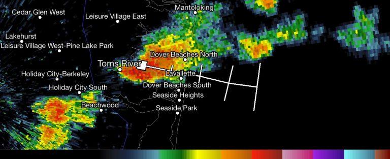 Radar imagery at 3:10 p.m.