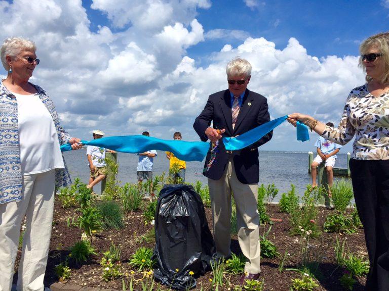 Seaside Park Mayor Robert W. Matthies cut the blue ribbon in the borough's