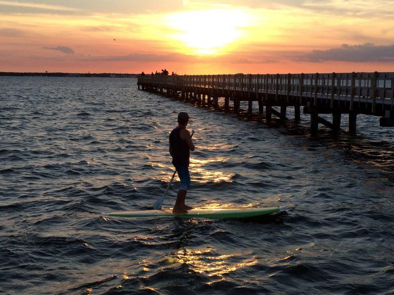 Paddleboarding in the Barnegat Bay. (Photo: Justin Auciello/for NewsWorks)