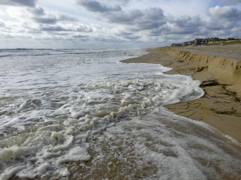 A high tide in South Seaside Park on September 21