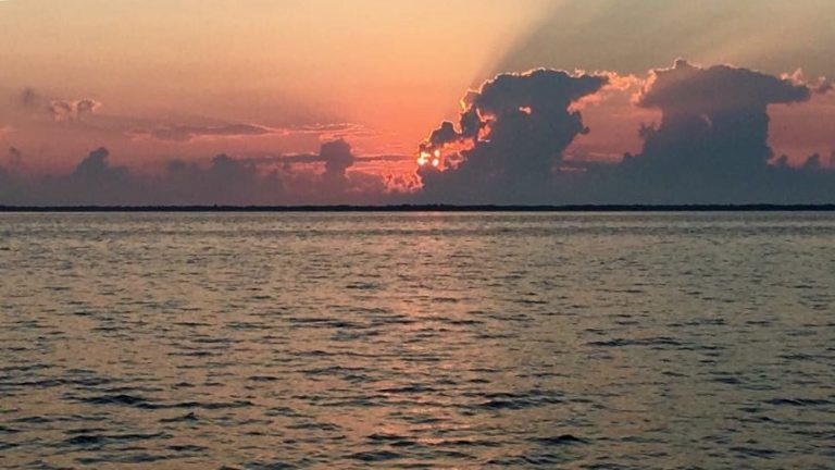 Today's sunrise over the Barnegat Bay as seen from Lanoka Harbor by JSHN contributor ‎Dana Parsons‎.