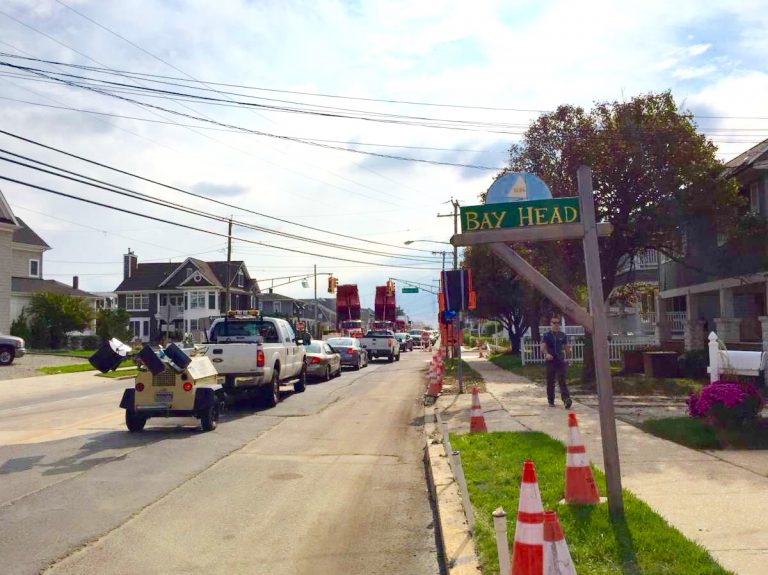 Route 35 in Bay Head in late Oct. 2014. (Photo: Justin Auciello/for NewsWorks)