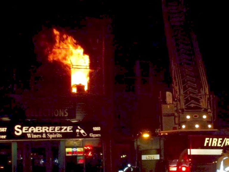 A fire ripped through several apartments above a liquor store in downtown Sea Bright Sunday night. (Photo: Sea Bright Fire Rescue)