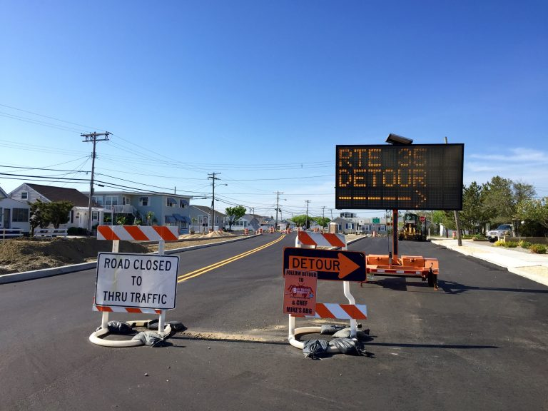 Route 35 near the Seaside Park/Berkeley border on May 14, 2015. (Photo: Justin Auciello/for NewsWorks)