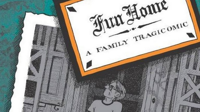 Detail from the cover of 'Fun Home,' by Alison Bechdel, published by Mariner Books.