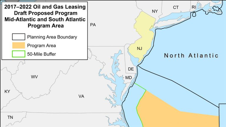 Under the now defunct program no drilling was planned near New Jersey.