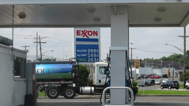 The average price for a gallon of gas in New Jersey is about $2.60.(Phil Gregory/WHYY)