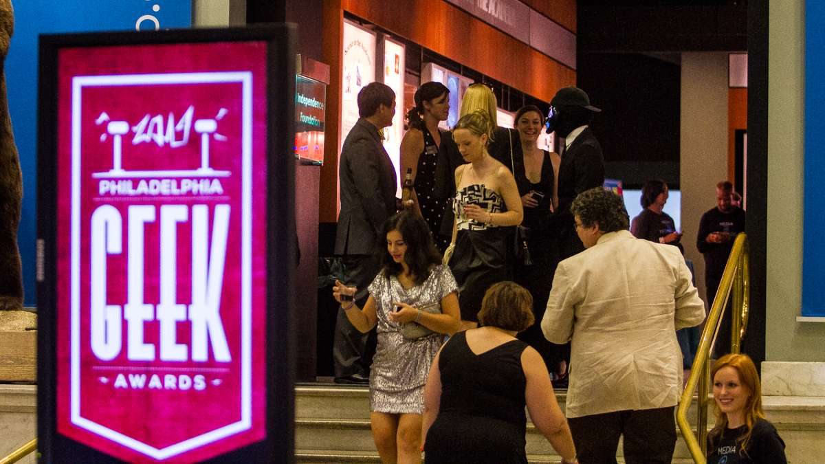 Nominees and guests are shown arriving at the 2014 Philadelphia Geek Awards. (Brad Larrison/for NewsWorks)