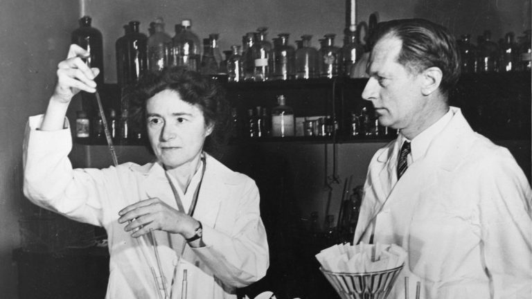 Biochemist Gerty Theresa Radnitz Cori (1896-1957) and her husband Carl Ferdinand Cori (1896-1984) were jointly awarded the Nobel Prize in medicine in 1947. (Smithsonian Institution)