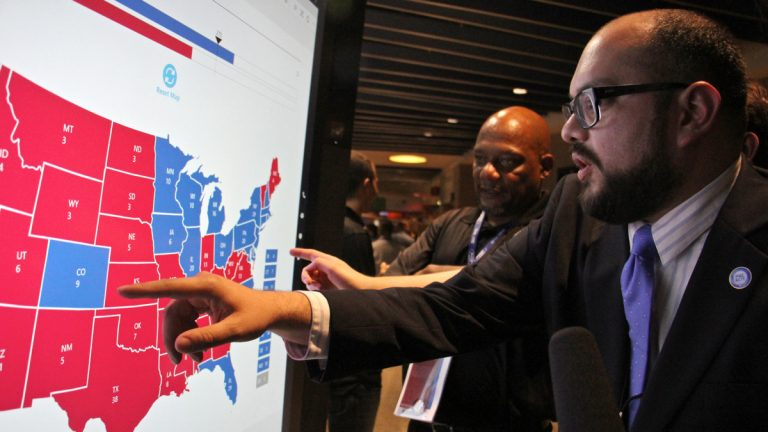 Christian Ucles of Iowa enthusiatically projects how the 2016 Presidential election will play out state-by-state