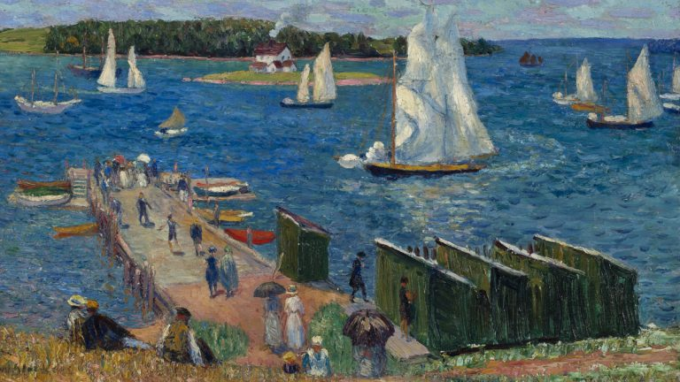 The first major retrospective in over 50 years of William Glackens – Philly native, PAFA graduate, and lifelong friend of Dr. Albert Barnes – is opening at the Barnes Foundation. Pictured: Mahone Bay, 1910, by William James Glackens (courtesy of the Barnes Foundation)