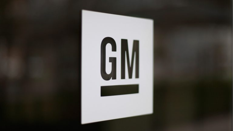 The General Motors logo at the company's world headquarters in Detroit. (AP Photo/Paul Sancya)