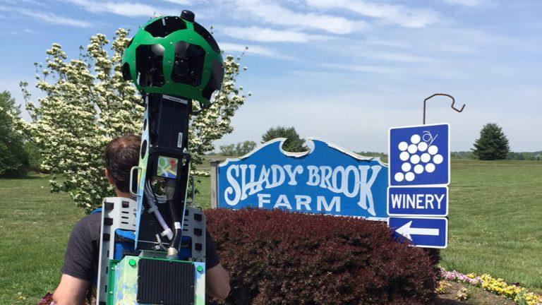 Google Trekking at Shady Brook Farm (Tom MacDonald/WHYY)