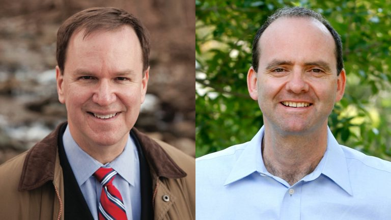 Lower Merion Township Commissioner Brian Gordon (left) and Democratic ward leader Dan Muroff are challenging incumbent 2nd District Congressman Chaka Fattah. (Photos provided by the candidates)