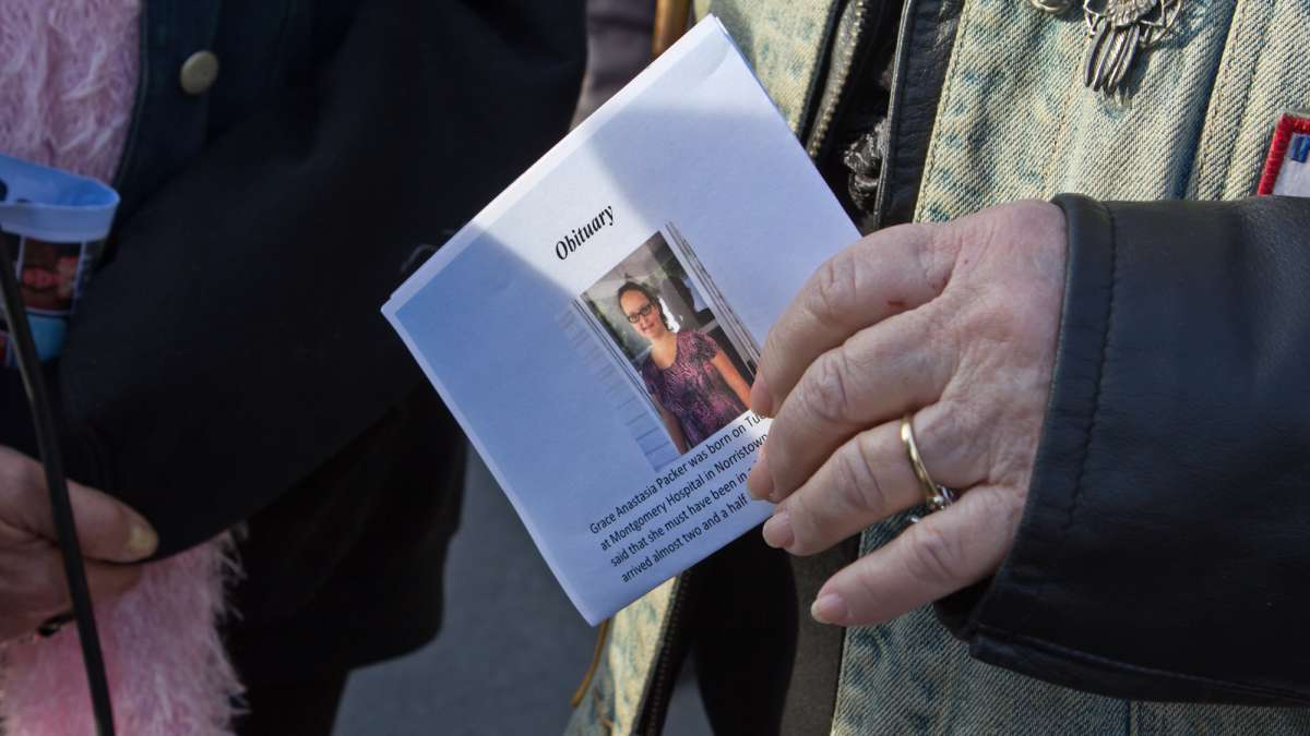 A memorial service for Grace Packer was held at New Life Presbyterian Church in Glenside. (Kimberly Paynter/WHYY)