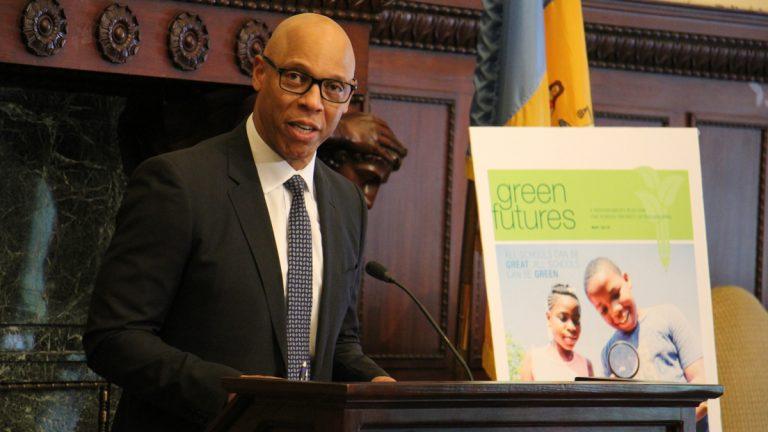 Philadelphia schools Superintendent William Hite introduces the district's sustainability program