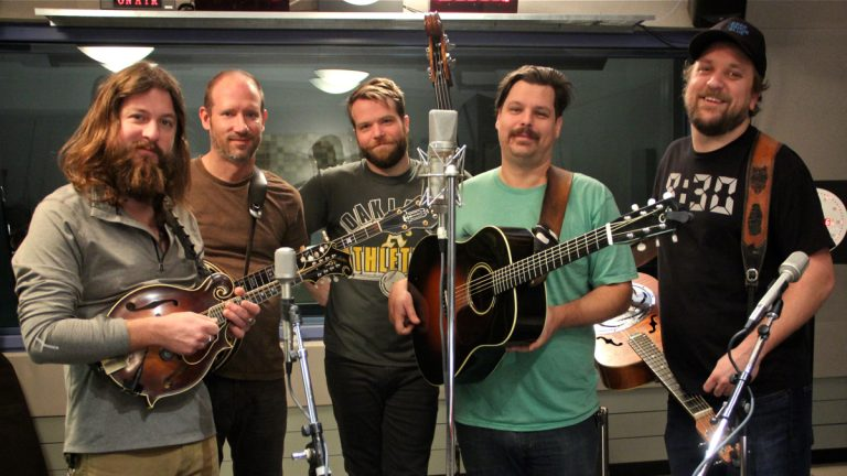 The members of Greensky Bluegrass perform at WHYY. (Emma Lee/WHYY)