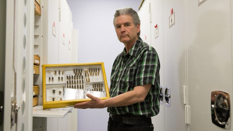 Greg Cowper, Curatorial Assistant at the Drexel Academy of Natural Sciences will give a lecture on the Eastern State Penitentiary collection on Monday, September 9, 2013.  (Lindsay Lazarski/WHYY)