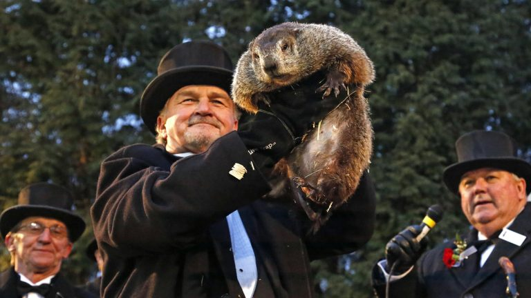Groundhog Club handler John Griffiths