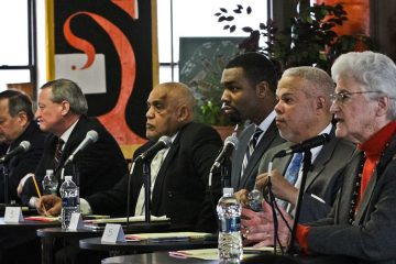 The first forum of this Democratic mayoral-primary season drew the candidates to Parkside in February. On Tuesday night, they'll go on live television from the Kimmel Center. (Kimberly Paynter/WHYY)