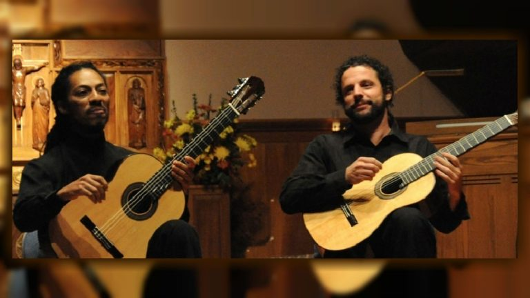 Tomorrow night and again on Sunday afternoon the DSO will join with the Brasil Guitar Duo of Joao Luiz and Douglas Lora to perform and record three double guitar concerti. (photo courtesy of www.delawaresymphony.org)