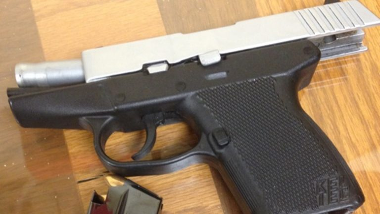 Delaware State Police released this evidence photo of the gun found at Dickinson High.