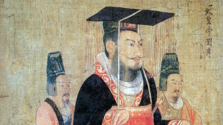 Emperor Guangwu, born Liu Xiu, was an emperor of the Han Dynasty during the first century. He unified disparate parts of China during his rule. (<a href='https://en.wikipedia.org/wiki/List_of_emperors_of_the_Han_dynasty'>Wikipedia Commons</a>)