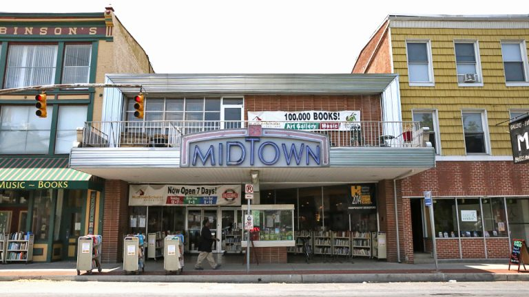 The Midtown Scholar bookshop is one of eight properties owned by Harrisburg Mayor Eric Papenfuse near two bars the city has labeled nuisance businesses.  (Lindsay Lazarski/WHYY)